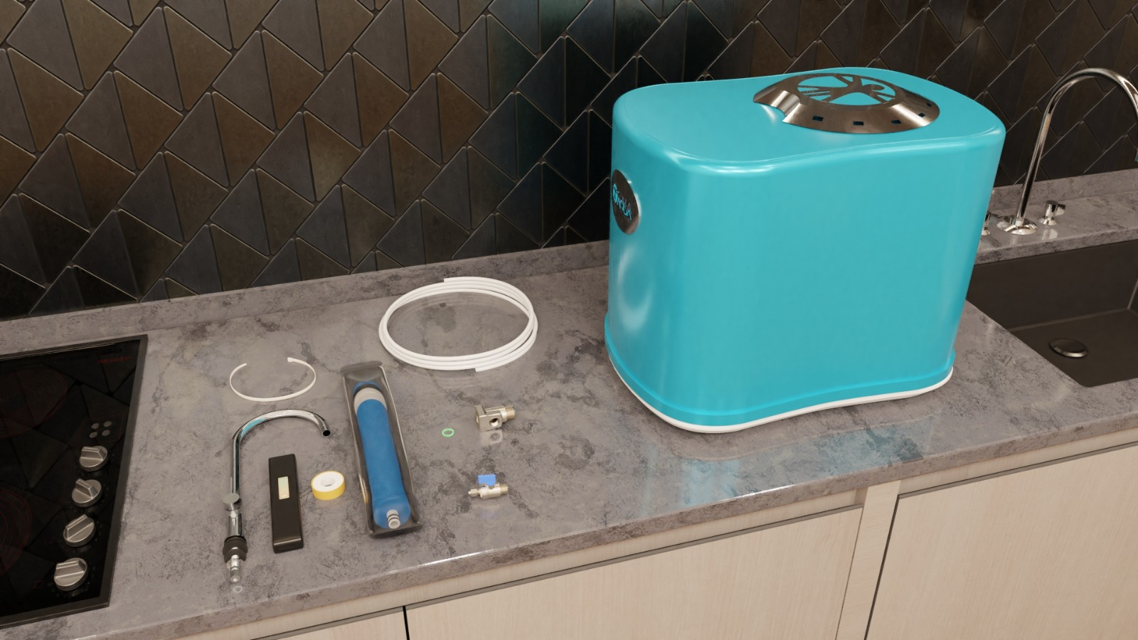 GAIA AQUA Trinkwasser Filter System Lieferumfang
